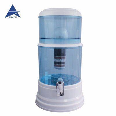 8 Stage Water Filter Ceramic Carbon Mineral Bench top Dispenser Purifier Pot 20L 2
