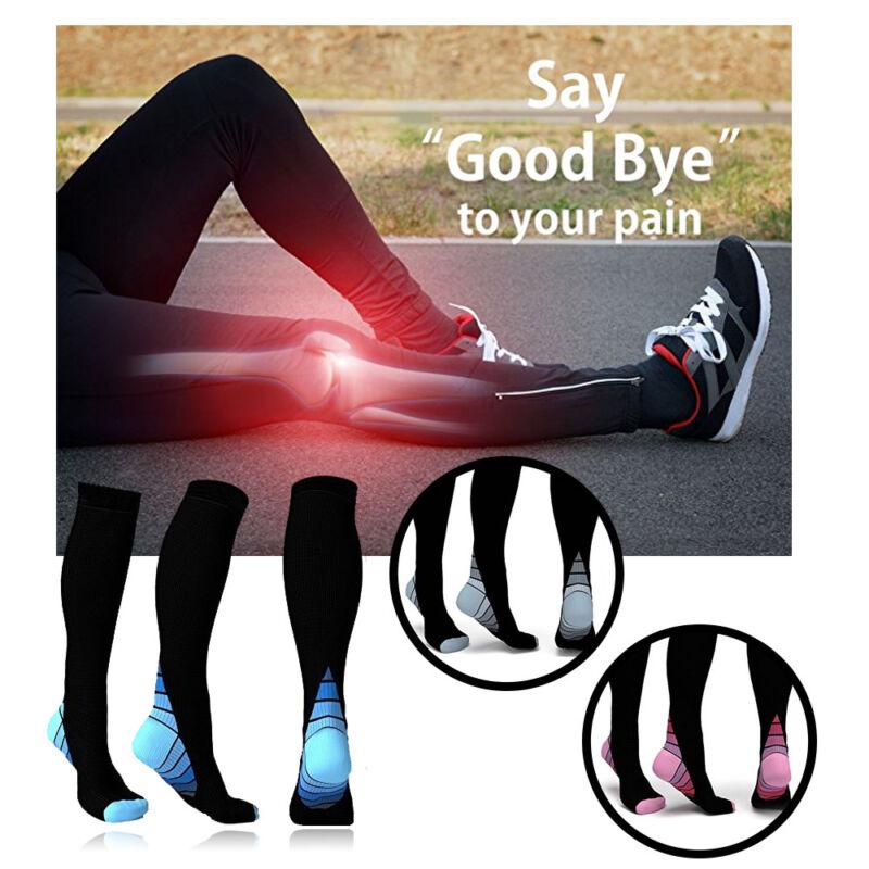 CFR 15-30mmHg Medical Compression Socks Support Stockings Travel Flight Socks 2