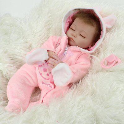 "16"" Sleeping Newborn Vinyl Silicone Reborn Baby Doll Handmade Xmas Gift Girl Toy 11"