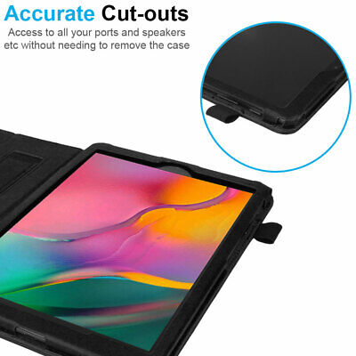 """for Samsung Galaxy Tab A 10.1"""" 2019 SM-T510 T515 Leather Flip Case Stand Cover 7"""