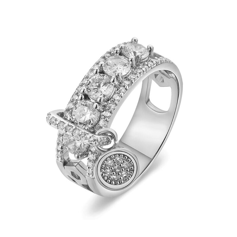 Gorgeous Round White Sapphire Engagement Ring 925 Silver Wedding Jewelry Sz 4-12 12