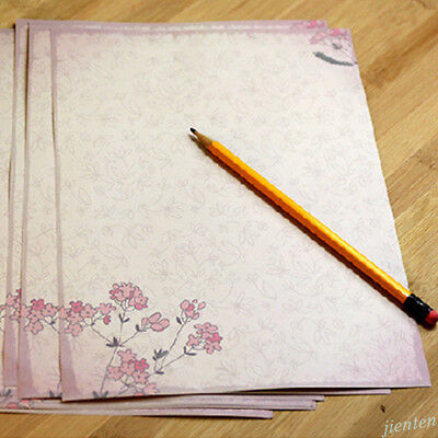 Rose Flower Writing Letter Paper Stationary Vintage Student Classic Stationery 9