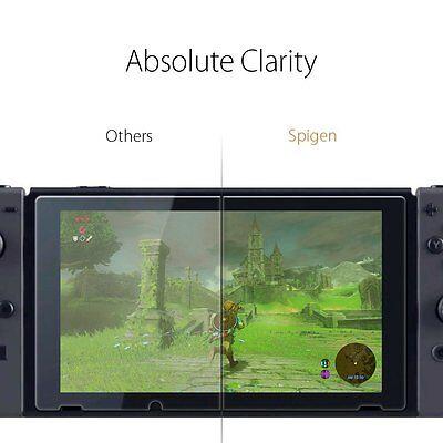 Genuine Spigen GLAStR 9H Tempered Glass Screen Protector for Nintendo Switch 2PC 7
