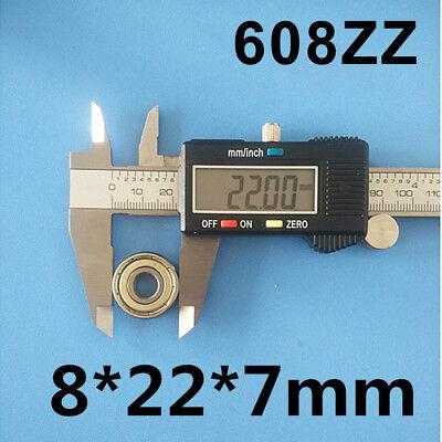 10-30X NEW 608ZZ Ball Bearing PREMIUM ABEC-5 CNC Skateboard 3D Printer RepRap OZ 4