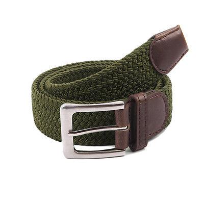 Gelante Canvas Elastic Fabric Woven Stretch Braided Belts 3
