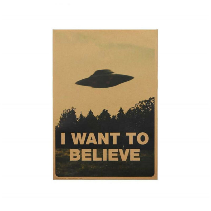 "HOT Vintage Classic X FILES ""I Want To Believe"" Poster Home Decor Wall Stickers 12"