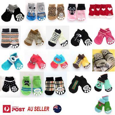 Dog Socks Non-Slip Grip Slip Anti-Skid S M L XL - Puppy Cat Pet Shoes Slippers 2