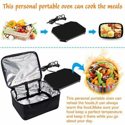 Portable Mini Oven Electric110/12V Insulated Food Warmers Set for Car Microwave 2