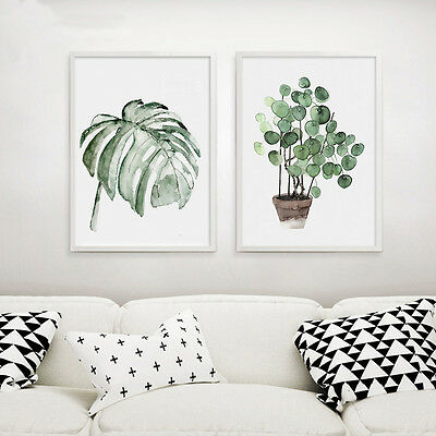 Tropical Plants Leaves Canvas Vintage Poster Wall Art Prints Modern Home Decor 3