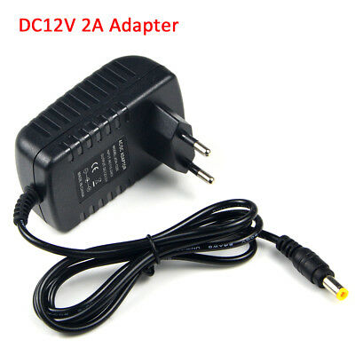 EU Plug 1A 2A 3A 5A Power Supply Adapter 100V- 240V to 12V Lighting Transformer 4