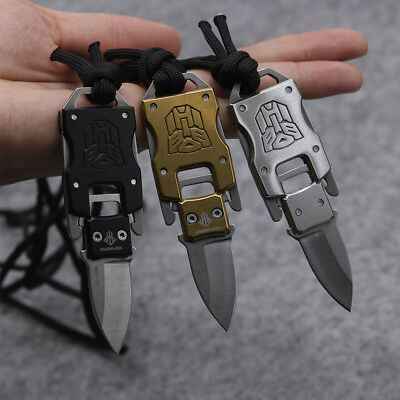 Mini Keychain Fixed B/G/S Knife 420 Blade Tactical Combat Survival Neck Knives 9