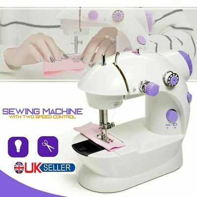 Portable Electric Sewing Machine Overlock 2 Speed LED Mains Powered Foot Pedal 2