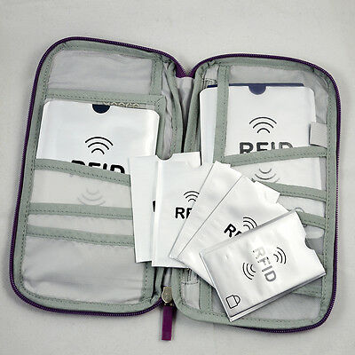 Travel Wallet Ticket Holder with RFID Blocking Covers for Passport Credit Cards 2