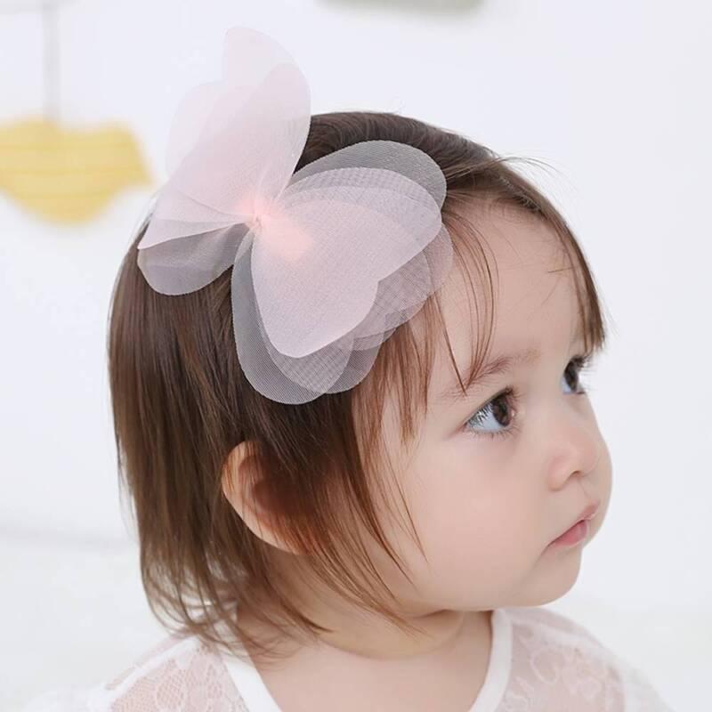 Creative Fashion Cute Kids Children Net Yarn Bowknot Hair Clips Hairpins 4