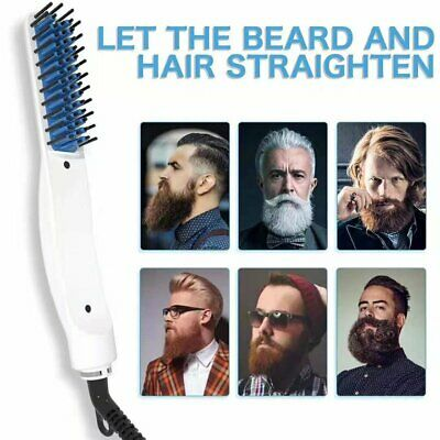Quick Beard Straightener Hair Styler Multifunctional Comb Curler Show Cap Men cv 4
