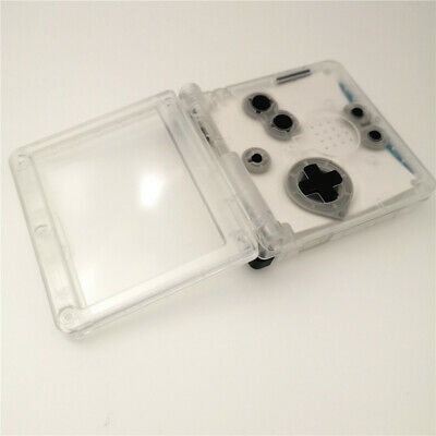 GBA SP Transparent White Shell Housing Case For Nintendo Game Boy Advance SP 4