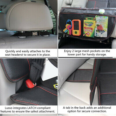Car Seat Protector Thickest Padded Waterproof Back Seat Organizer Kick Mat Cover 7