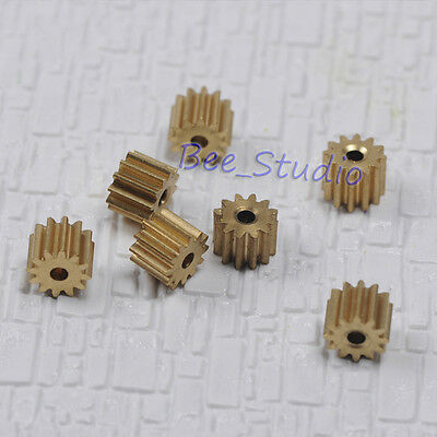 Metal Copper Gear Motor Spindle Gear 0.5 Modulus 8//10//16 Teeth Transmission Gear