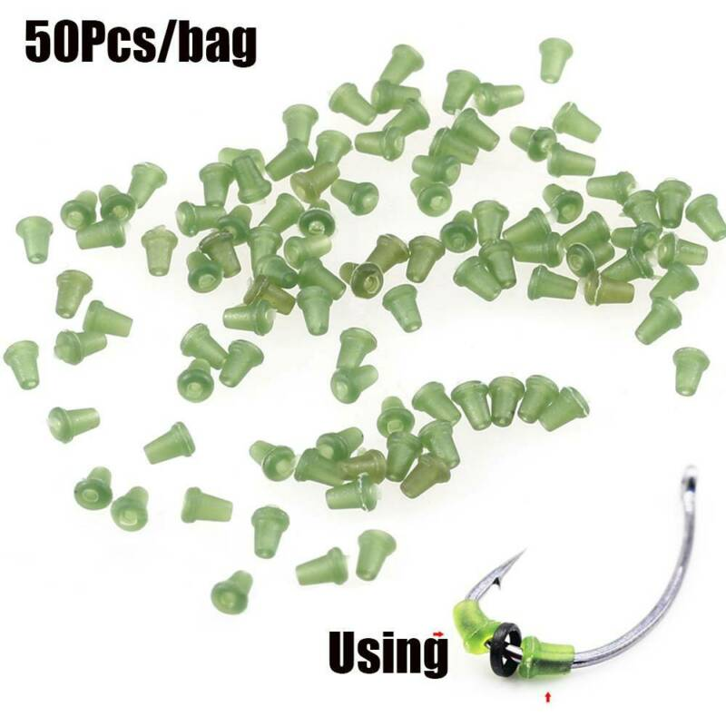 50x Carp Rig Ring Stops Carp Tackle Hook Stop Beads Buffer Bait Holder Rig Stop 6