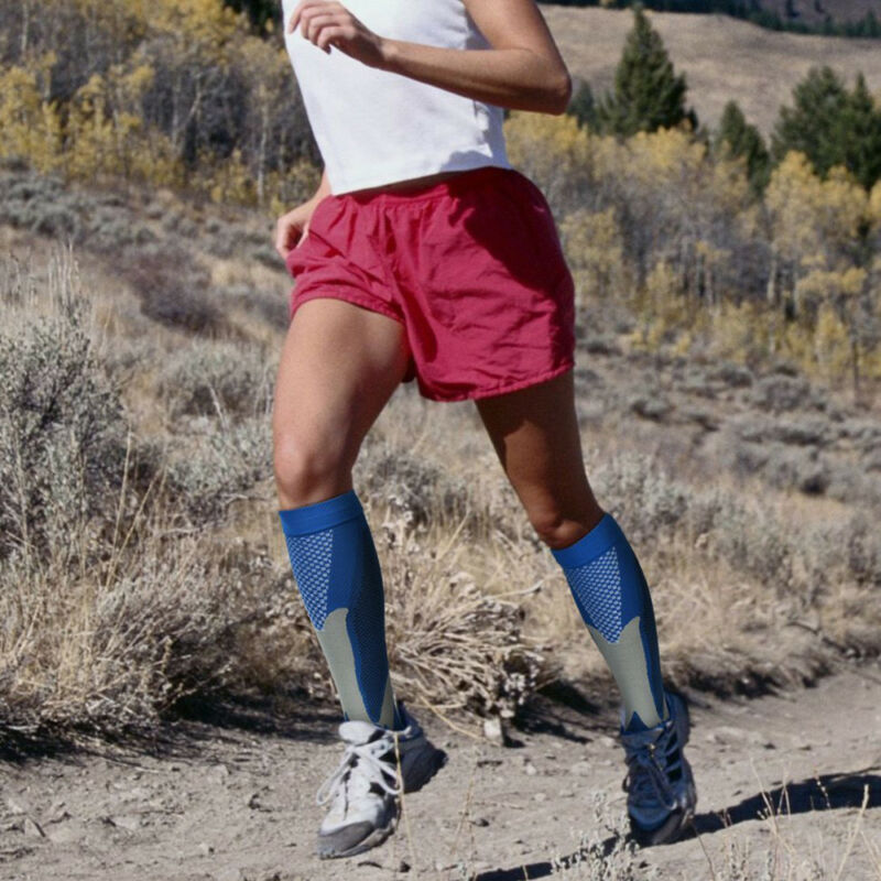 Pair Compression Socks Medical Travel Running Anti Fatigue Varicose Stockings AU 3