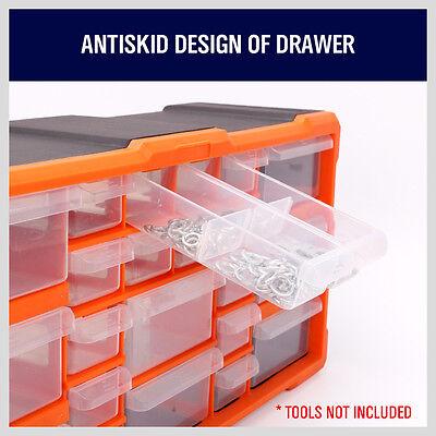 22-132 Drawers Storage Cabinet Tool Box Bin Part Organizer Chest Plastic Divider