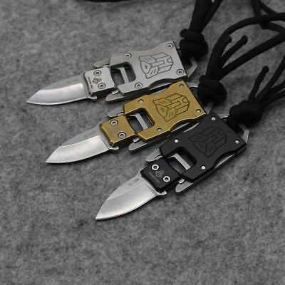 Mini Keychain Fixed B/G/S Knife 420 Blade Tactical Combat Survival Neck Knives 11