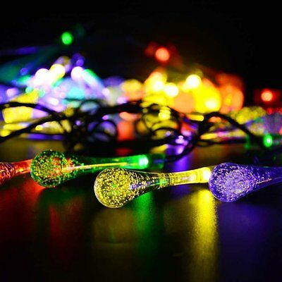 50 100 200 LED Solar Power Fairy Lights String Garden Outdoor Party Wedding Xmas 10