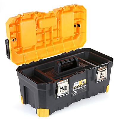 Tool Box Tough Master 22'' With Tray & Compartment Organiser Aluminium Handle 3