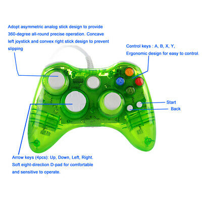 Wired / Wireless Game USB Controller Gamepad Joystick For Microsoft Xbox 360 &PC 11