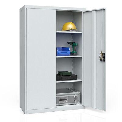 Aktenschrank Büroschrank Werkzeugschrank Metallschrank Universal Schrank grau