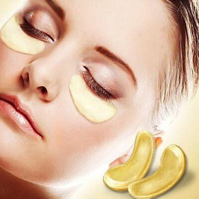 Premium Collagen Crystal Face Masks Anti Ageing Skin Care Gold White x5 x10 x50 3