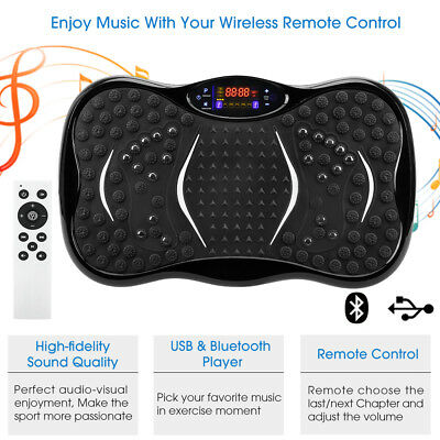 3D Vibrationsplatte Vibrationstrainer 200W Vibrationsgerät Body Shaper Massage