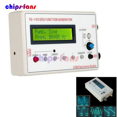 DDS Function Signal Generator Sine+Triangle + Square Wave Frequency 1HZ-500KHz 7