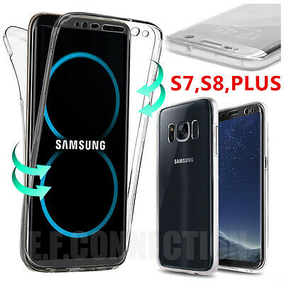 Coque Housse 360° FULL Silicone Tactile Pour Samsung S6 S7 S8 PLUS S9 Note 8 9 2