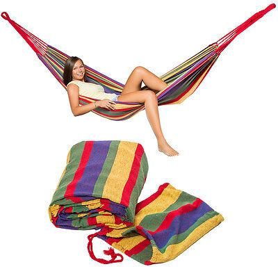 Hamac de jardin double grand lit suspendu camping balancelle transat terrasse 3