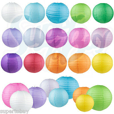 "5/10 Pack of 8"" 10"" 12"" 14"" 16""  Paper Lantern Chinese Decoration Wedding Party 3"