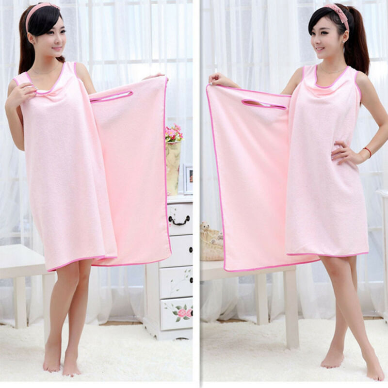 Microfiber Robes Wearable Towel Robe Spa Fast Dry Towel Bathrobes For Women Soft 3