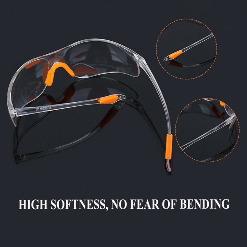 Factory Lab Work Goggles Anti-impact Outdoor Safety Eye Protective Clear Glasses 6