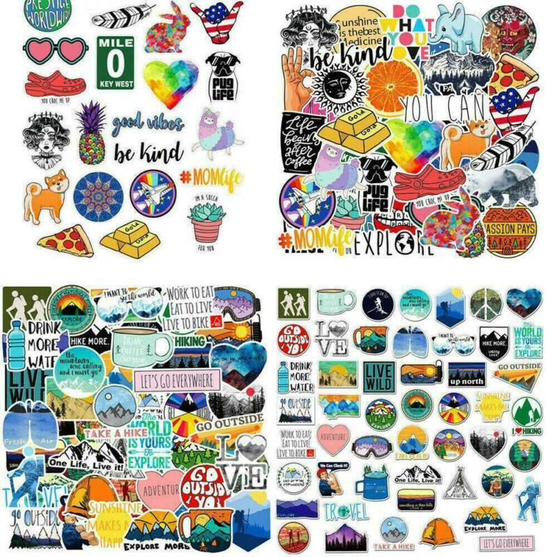 100Pcs Mixed Vinyl Laptop Skateboard Stickers bomb Luggage Decals Dope Sticker 4