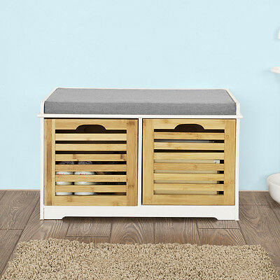 sobuy banc de rangement meuble d 39 entr e banquette chaussure fsr23 k wn fr eur 56 95. Black Bedroom Furniture Sets. Home Design Ideas
