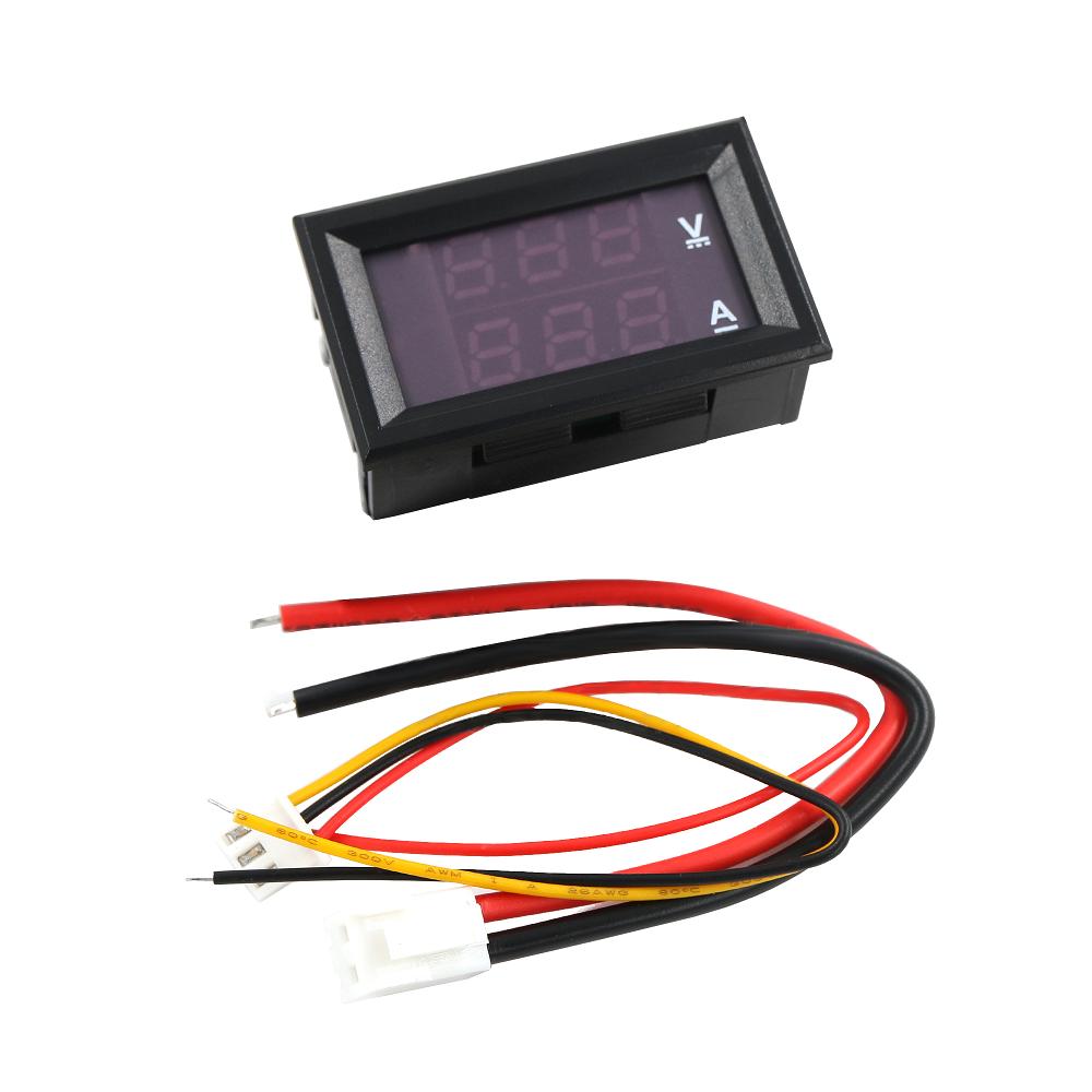 Voltmetro voltometro amperometro digitale da pannello 100V 10A modulare modulo 4