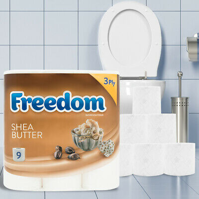 45 Rolls Freedom Inspirations Quilted Shea Butter 3 Ply Toilet Paper 6