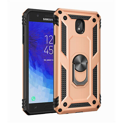 For Samsung Galaxy J2 J3 J4 Plus J6 J7 Magnetic Military Armor Stand Ring Case 10