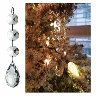 30 Christmas Clear Acrylic Crystal Glass Ball Ornaments Holiday Craft Decoration 5