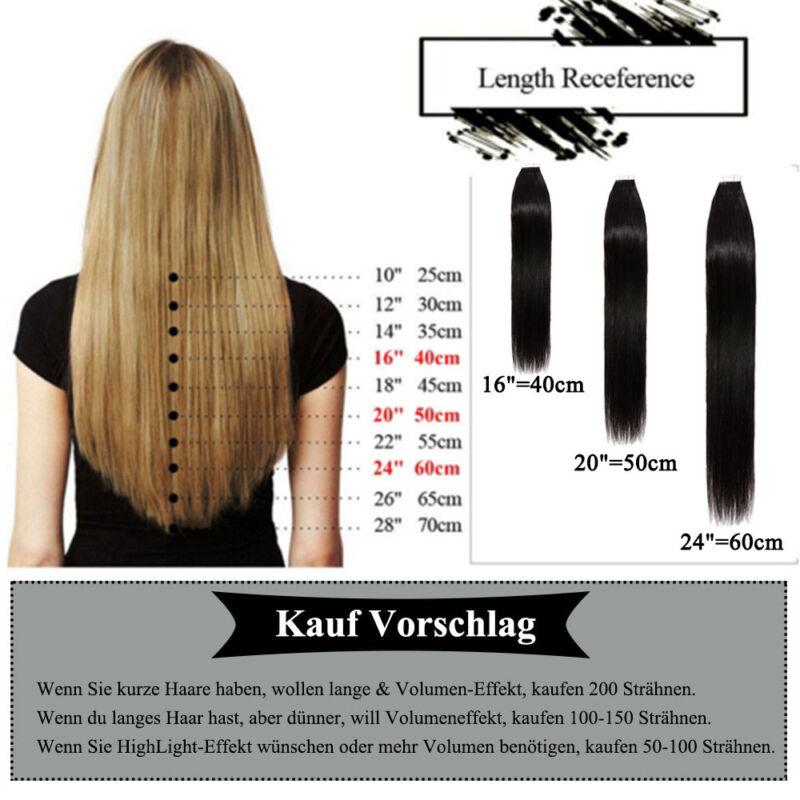 7ec97962ff751b 100% Remy Indisches Echthaar Extensions Tape in Haare Haarverlängerung  Kleben pz 7 7 von 7 Siehe Mehr