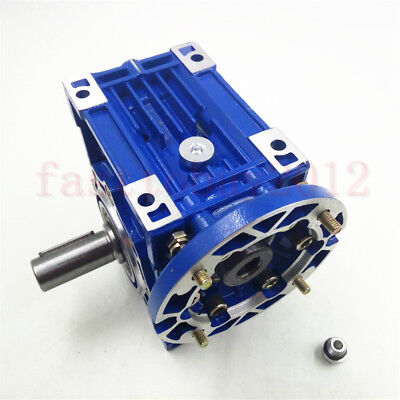 56B14 Worm Gearbox NMR030 Speed Reducer Reduction Ratio 10:1 9mm Motor Shaft 2