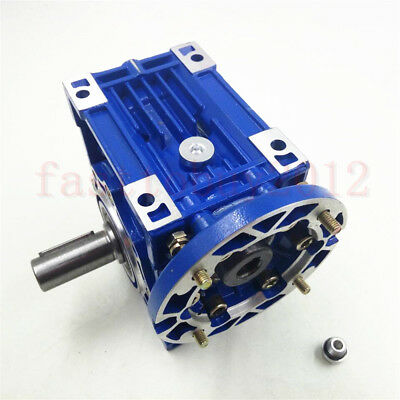 Worm Gearbox 56B14 Flange Reducer 10:1 15:1 30:1 Stepper Asynchronous Motor 9