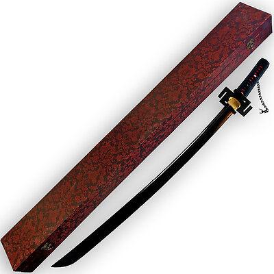 Functional Ichigo Kurosaki Katana 1045 HC Steel FULL TANG Tensa Zangetsu Sword