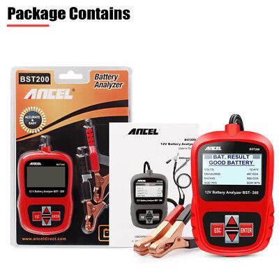 Digital Battery Analyzer 12V 100 -1100CCA Car Battery Load Tester ANCEL BST200 5
