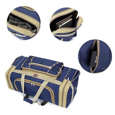 "25"" Men Travel Gym Duffle Bag Sports Waterproof Blue Tote Handbag Overnight New 4"